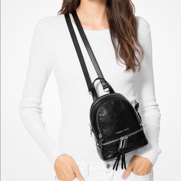 efffe674952a27 NEW Michael Kors Rhea Mini Python Leather Backpack.  M_5c9c1de9819e90d90574e08a
